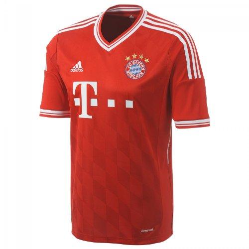 adidas - Camiseta de fútbol para Adulto (Primera equipación), diseño del Bayern de Múnich Rojo FCB True Red/White Talla:XX-Large