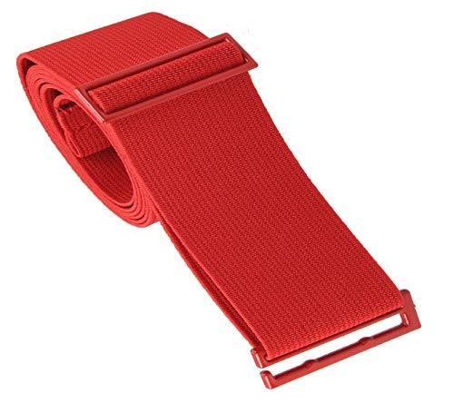Gelante Lady Invisible Belt - Web Canvas Elastic Adjustable Skinny No Show Belt 2051-Red (14+)