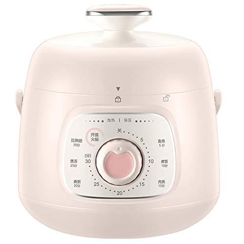 XIAOFEI Électronique Multifonction Cuisine Pot Autocuiseur Électrique Multi Cuisinier Programmable Multi- Cuisinier Lent Cuisinier Instant Pot Riz Cuisinier 1.5L,Rose
