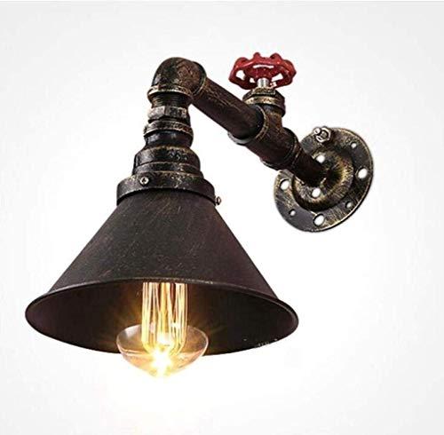 CLJ-LJ Lámpara de pared de tubo de agua steampunk de alto gusto, estilo vintage, industrial, lámpara de pared, diseño de latón de color, cobre, un alto sabor