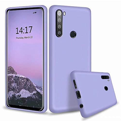 MUTOUREN Funda Xiaomi Redmi Note 8 - Carcasa de TPU para teléfono móvil - Ultra Delgado TPU Silicona Flexible Cover Protectora Gel Suave Bumper Case (Púrpura)