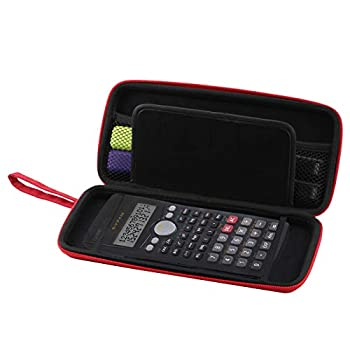 Navitech Red Graphics Calculator Hard Case/Cover with Storage Pouch Compatible with The Texas Instruments TI 36 X PRO