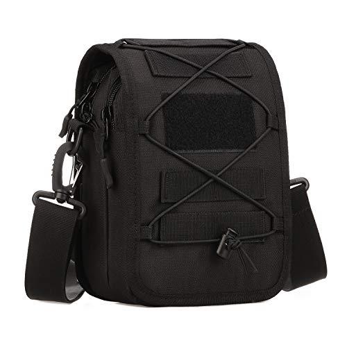 Yakmoo Taktische Handytasche Schultertasche Molle System wasserdichte Hüfttasche Chest Sling Pack Crossbody Bag Umhängetasche Zubehör für den Rucksack für Outdoors