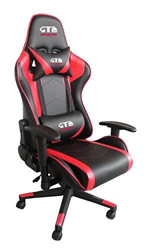 Gammec Poltrona da Gaming GT2 Rossa/Nera - GT2RED - Sedia Gaming