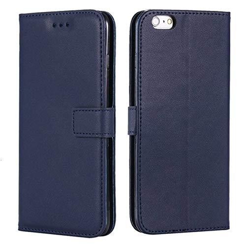 ZXMDP Funda para teléfono Cartera con Tapa de Lujo para iPhone 7 8 Plus 6 6S 5 5S SE 4 4S, Adecuada para iPhone 11 Pro XS MAX XR X Funda para teléfono móvil, Azul Marino, para iPhone X