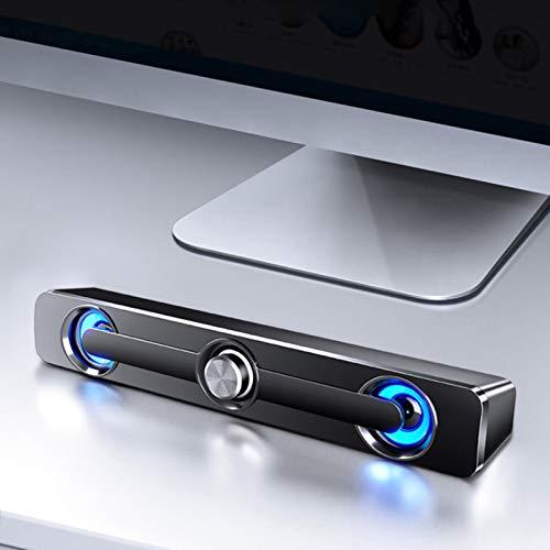 JINQII Alto-falante para computador, caixa de som surround Bluetooth para computador desktop PC/laptop/TV/celular, conector de áudio de 3,5 mm