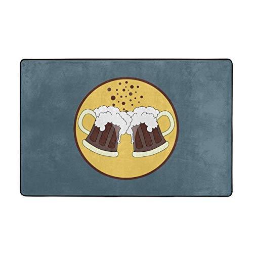 Alfombras de área, alfombras Antideslizantes de Cerveza Oktoberfest, alfombras de decoración para el hogar, Alfombra de 60 x 39 Pulgadas para Sala de Estar, Sala de Juegos