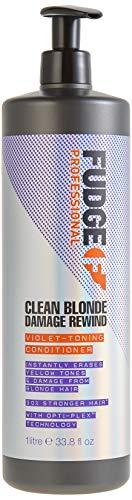 Fudge Professional Clean Blonde Damage Rewind Violet-Toning Anti-Gelbstich Conditioner, 1000 ml