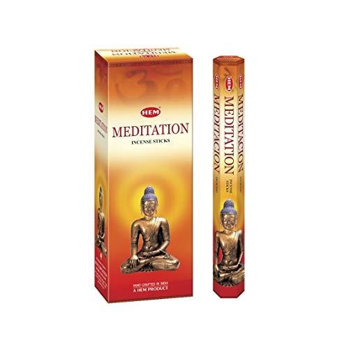 HEM Meditation Incense Sticks - Pack of 6 - 120 count - 301g