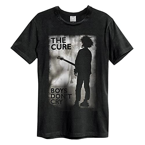 Amplified The Cure-Boys Don't Cry Camiseta, Negro (Black BK), XXL para Hombre