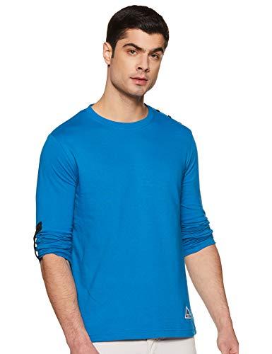 Amazon Brand - Inkast Denim Co. Men's Solid Regular fit Cotton T-Shirt (SS20INKTEE14-B_Maroon S)