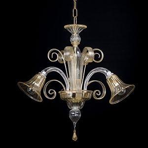 Artemis Mignon lámpara de cristal de Murano 3 luces