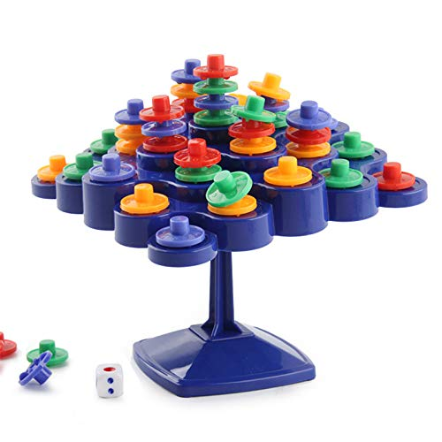 BECCYYLY Tablero de apilamiento Giratorio de Equilibrio de Gamenovelty para la Actividad de Padres e Hijos, Juegos de Regalo de Juguete para niños Iq