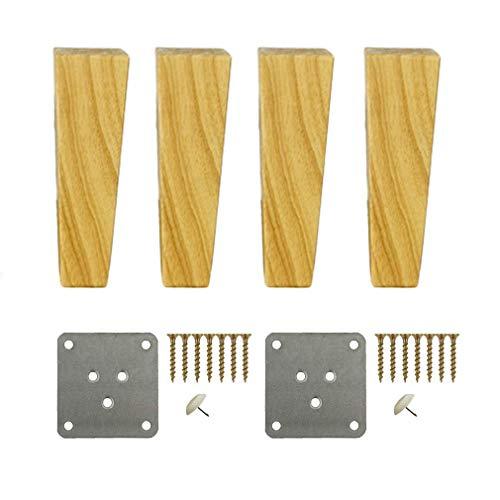 RZM Massivholz-Möbelbeine, 100 % Eiche, 4 Stück, Ersatz für Sofa, Couch, Stuhl, Ottoman, Loveseat, Couchtisch, Schrank, Möbel, Holzfüße (Farbe: 20 cm)
