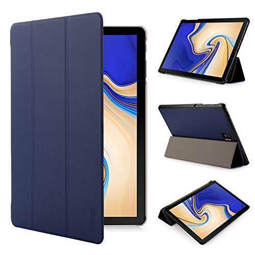 iHarbort Samsung Galaxy Tab S4 10.5 pollice custodia in pelle Cover (Pubblicato 2018 SM-T830N T835N) - ultra sottile di peso leggero Case custodia in pelle con il sonn/sveglia la funzione, blu scuro