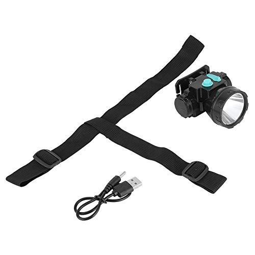 Hilitand Linterna LED, linterna recargable USB de alto brillo para pesca, minería ABS + material de vidrio