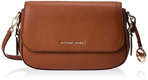 Made of Leather; Flap closure; 2 interior slip pockets and 6 credit card slots 1 slip pocket; 23 Inches adjustable strap Gold-tone exterior hardware Measurements: Length: 9.25 x Height: 6.5 x Width: 2.5 Inches Comes with original tags