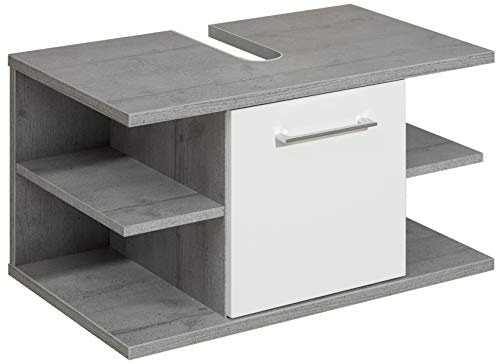 Pelipal 370 Fresh Line Grey Waschbeckenunterschrank, Holzdekor, Betonoptik, 44,0 x 72,0 x 39,7 cm