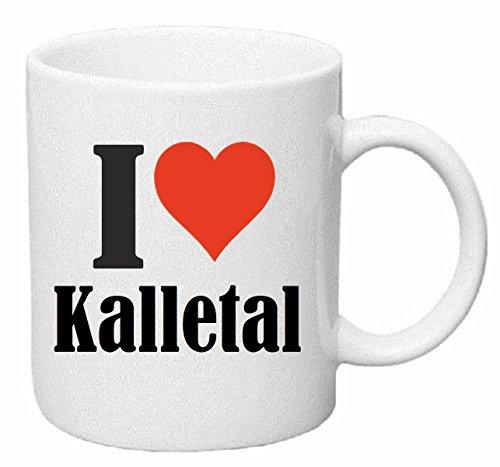Kaffeetasse I Love Kalletal Keramik Höhe 9,5cm ⌀ 8cm in Weiß