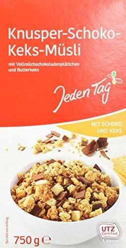 Jeden Tag Knusper-Schoko-Keks-Müsli, 750 g, 206049