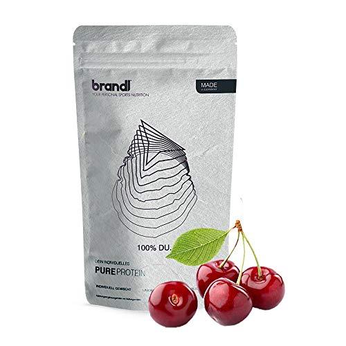 brandl® Vegan Protein 4k | Pflanzliches Proteinpulver ohne künstliche Süßstoffe | Eiweißpulver laktosefrei | Veganes Proteinpulver | 600g Kirsche