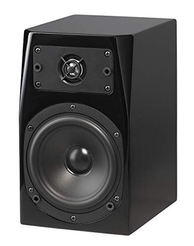 NHT C Series C-1 Premium Home Theater 2-Way Bookshelf Speaker - Clean, Hi-Res Audio | Sealed Box | Aluminum Drivers | Single, High Gloss Black