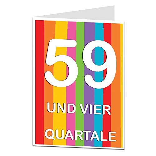LimaLima 60. Geburtstagskarte für Männer & Frauen,Mama Papa Oma Opa, Ehemänner & Ehefrauen, Freunde und Familie, Sarkastische Grußkarte A5 (zusammengeklappt) Glückwunschkarte zum Geburtstag
