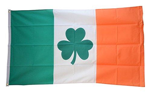 Flaggenfritze Fahne/Flagge Irland mit Shamrock Symbol + gratis Sticker
