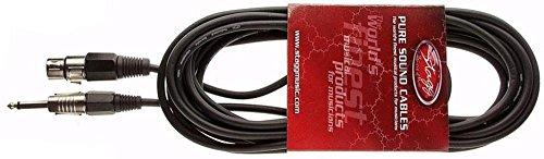 Stagg SMC10XP - Cable XLR a jack (10 m), color negro