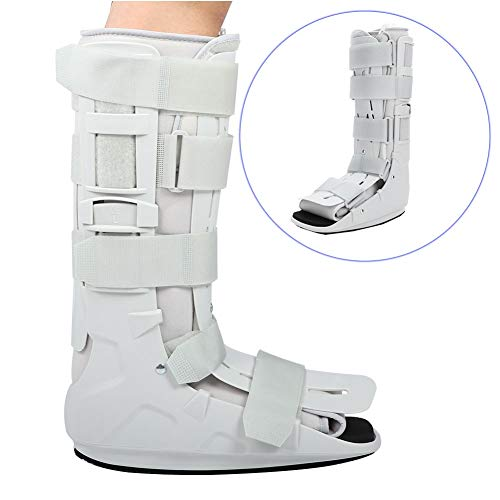 Zapato de senderismo neumático de espuma para restaurar fracturas, soporte para correa de tobillo, ortesis para férula plantar para lesiones de tobillo y pies (M)