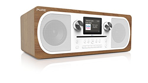 Pure Evoke C-F6 Stereo-All-in-One-Musikanlage (CD, DAB+ Digital-, UKW-Radio, Internetradio, Bluetooth inkl. Fernbedienung) walnuss