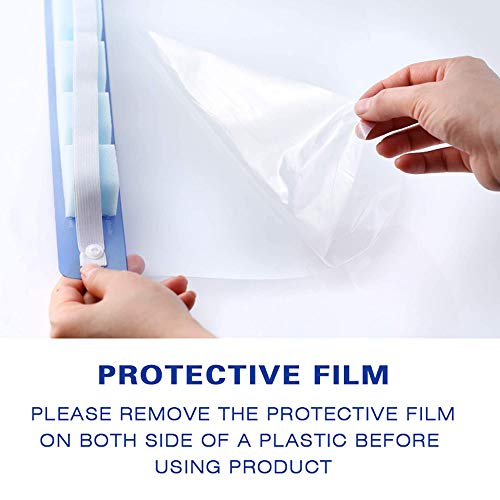 【US Stock,Shipping Today】10 Pcs Safety Face Shield Protect Eyes And Face,Clear double side Anti-fog Open Protective Film Elastic Band and Comfort Sponge,Windproof Dustproof Anti-Spitting
