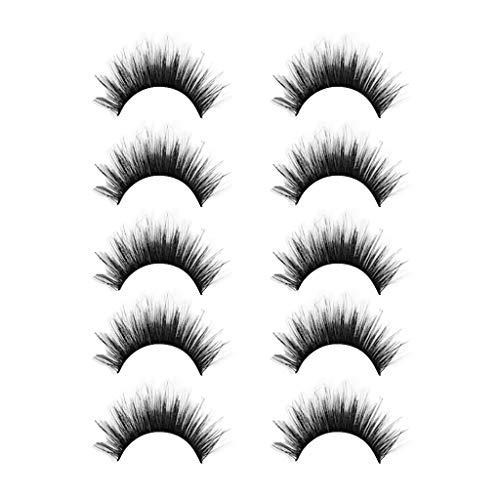 TOWAKM Wimpern, Sexy Party 3D Falsche Wimpern Lashes VoluminöSe Eye Lashes 5 Paar Make Up Lashes
