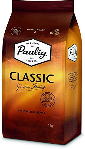 Paulig Arabica Classic Kaffeebohnen 1kg – Kaffee Master Mischung aus 100% Arabica-Bohnen - Vollmundige Röstung Stufe 3 - Perfekte Aromabalance- Premium Qualität im 1 Kg Beutel