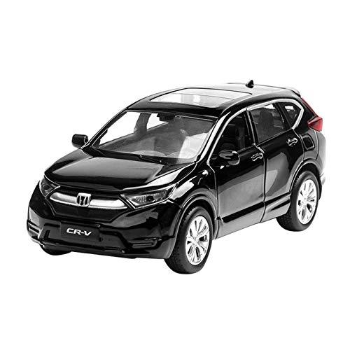 Modelo de Auto para H-Onda CRV Modelo Modelo Aleación de automóviles Die-Modelo de Juguete Modelo de Auto Sound y Light Children's Toy Collectibles 1:32 (Color : Black)