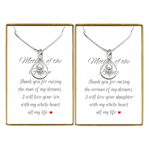 Set of 2 Infinity Necklaces, Mother of the Bride and Mother of the...