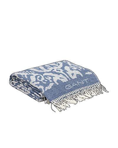 GANT Paix Tagesdecke Farbe Mittelblau 130x180cm Plaid Fransen Muster