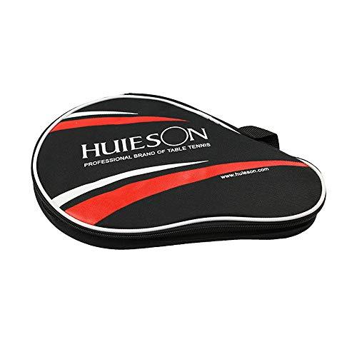 KEISL - Juego de 3 pelotas con forma de calabaza doble para dos palas de golf, pala de ping pong y funda para raqueta de tenis de mesa, color negro, tamaño 30*20.5CM