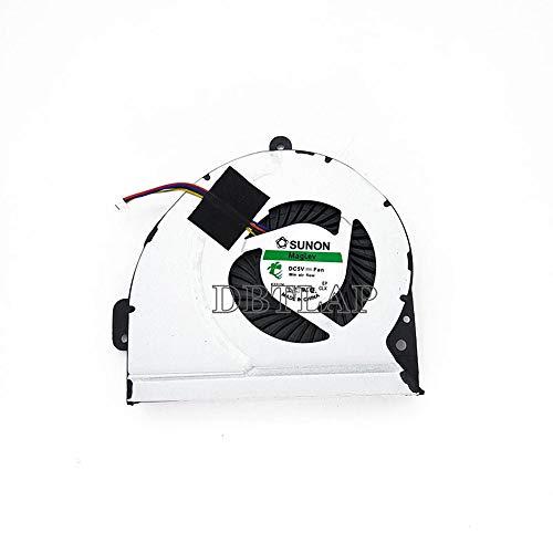 DBTLAP Enfriamiento Ventilador para ASUS P43S A83SV P43 P43SJ A83 A53S K53S K45HR K43SV X53 X53E X53S X84H CPU Enfriamiento Ventilador