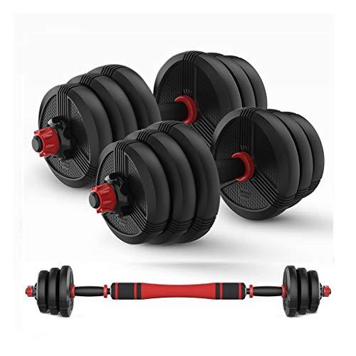 Fxhyy - Set di manubri per bilanciere, regolabile, da 22 a 29,9 kg, pesi con biella, utilizzati come bilanciere per allenamento a casa, palestra, allenamento tutto il corpo, 2 pezzi, dimensioni: 10 kg