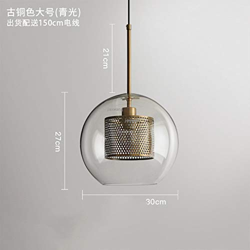 5151BuyWorld Lamp Nordic LED hanglamp Loft topkwaliteit hanglamp restaurant moderne industriële creatieve café glazen bol lampen