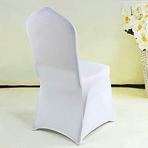 Femor 50 Piezas Funda Elástica para Sillas Cubierta de Sillas Cobertura para Sillas 83 x 37.5cm para Bodas Color Blanco