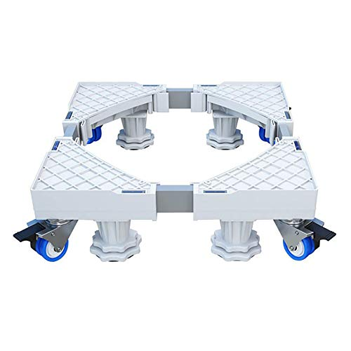 Estructura ajustable para frigorífico, lavadora, 45-68 cm, con ruedas de goma giratorias 4x2 y soporte de 8 patas, pedestales y marco, carga de oso 600 kg, para congelador, frigorífico