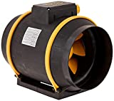"""Can Filter Group HGC736748 Can Max Pro Series Inline Mixed Flow Fan with 3-Speeds & EZ Mount Bracket-ETL Listed, 8"""" - 863 CFM, 120 Volt, Black"""