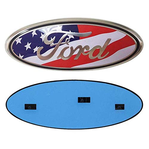 Shenwinfy Front Grille Tailgate Emblem for 04-14 F150, American Flag emblem for 11-14 Edge, 11-16 Explorer, 06-11 Ranger, 07-14 Expedition