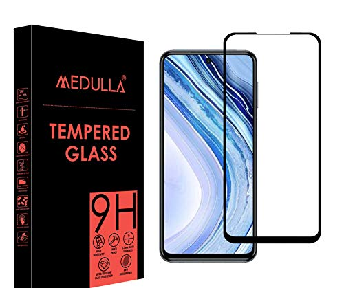 Medulla Edge to Edge Black Border 11D Tempered Glass Screen Protector for REDMI NOTE 9 PRO MAX (Pack of 1)