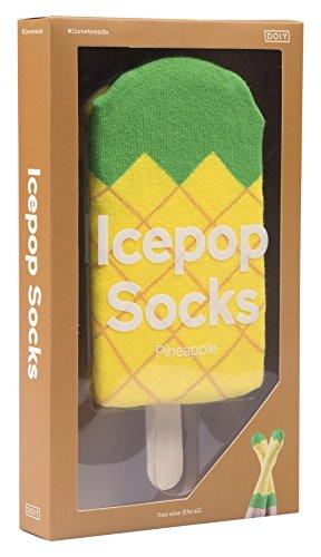 DOIY Limited Icepop Socken Ananas, Mehrfarbig, 2-teilig