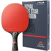 STIGA Royal 5 Sterne Tischtennis Schläger Pro Carbon, Schwarz/Rot