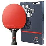 STIGA Royal 5 Etoiles Raquette de Tennis de Table Pro Carbon Ping Pong Racket