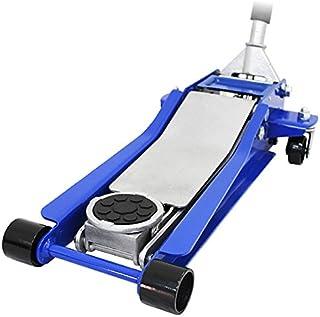 WEIMALL 【ブルー】ガレージジャッキ 低床 3トン フロアジャッキ 3t 油圧ジャッキ デュアルポンプ式 ローダウン車対応